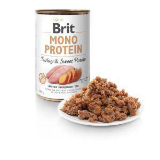 Brit Mono Protein Pavo Y Patata Latas Perro