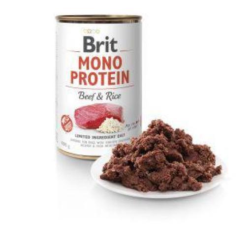 Brit Mono Protein Ternera Y Arroz Latas Para Perro
