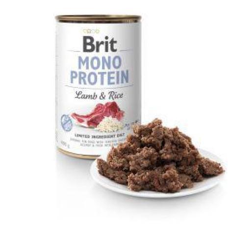 Brit Mono Protein Cordero Y Arroz Latas Perro