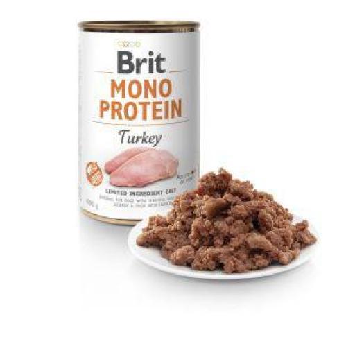 Brit Mono Protein Pavo Y Arroz Latas Perro