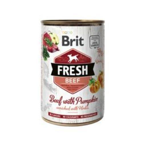 Brit Fresh Ternera Y Calabaza Latas Perro