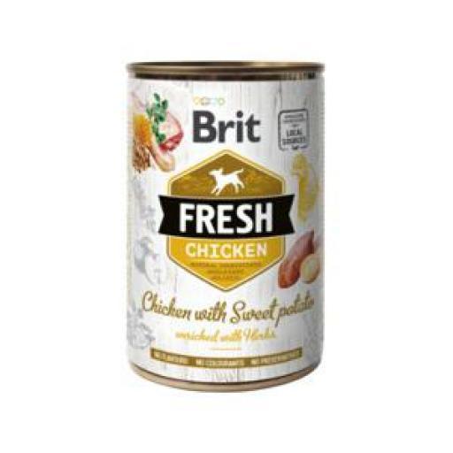 Brit Fresh Pollo Y Patata Latas Perro