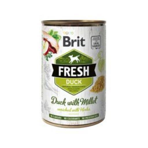 Brit Fresh Pato Y Mijo Latas Perro