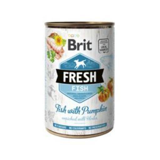 Brit Fresh Pescado Y Calabaza Latas Perro