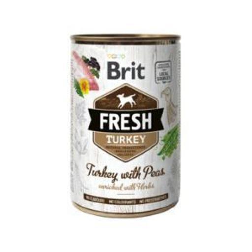 Brit Fresh Pavo Y Guisantes Latas Perro