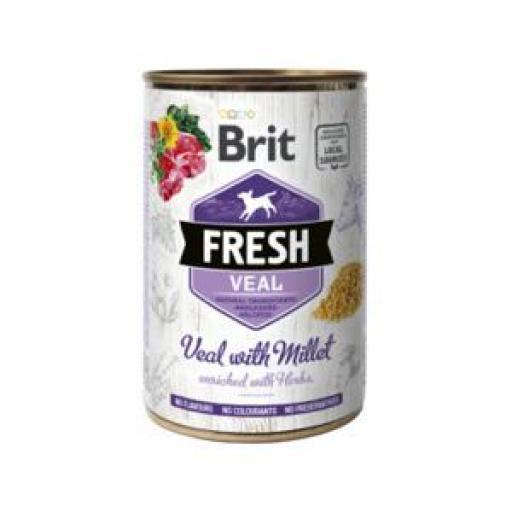 Brit Fresh Vacuno Y Mijo Latas Perro