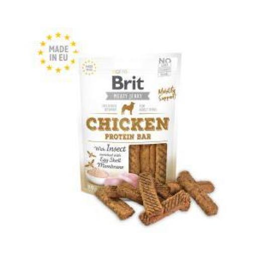Brit Jerky Snack Barrita De Pollo & Insectos