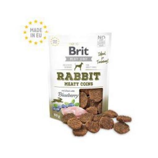 Brit Jerky Snack Monedas Conejo