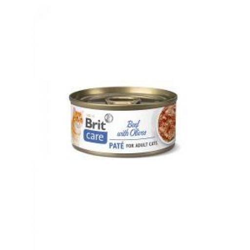Brit Care Cat Paté Ternera Y Aceitunas Lata