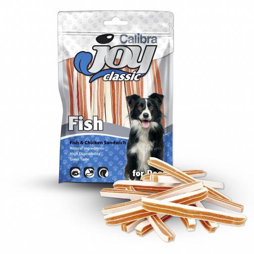 CALIBRA JOY DOG CLASSIC SANDWICH PESCADO POLLO 80GR