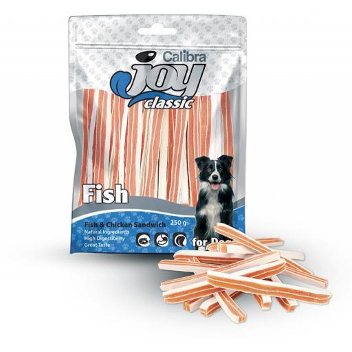 CALIBRA JOY DOG CLASSIC PESCADO POLLO SANDWICH 250GR