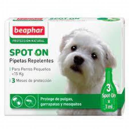 Beaphar Pipetas Repulsivas Antiparasitarias Perros Pequeños <15 Kg