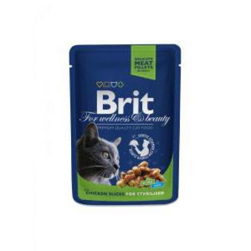 Brit Premium Cat Sterilised Pollo En Salsa Sobre (24 x 100 grms.)
