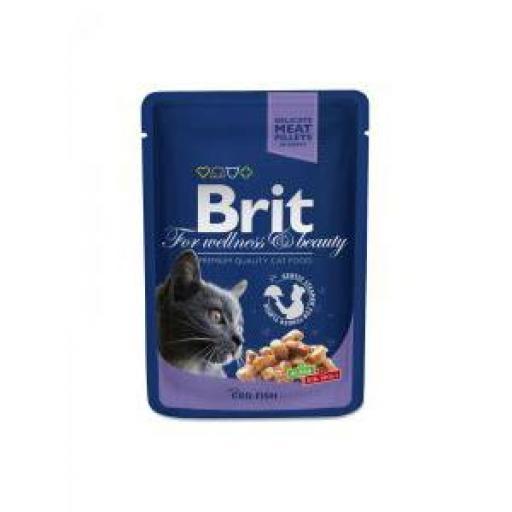 Brit Premium Cat Bacalao Salsa (24 x 100 grms. sobre)