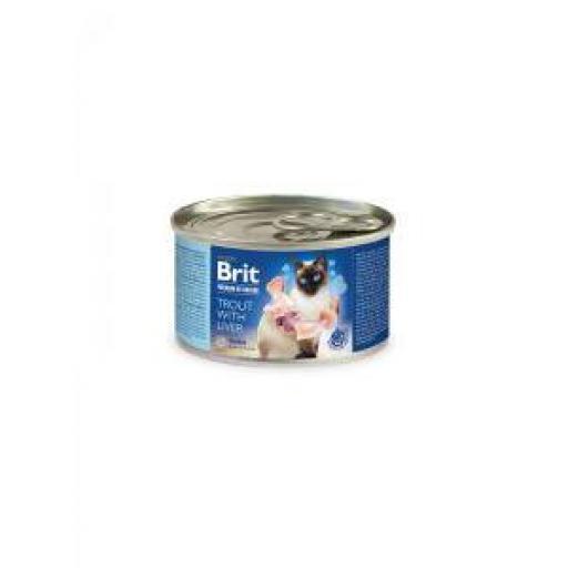 Brit Premium By Nature Gato Adulto Trucha & Hígado (6x200 grms.)