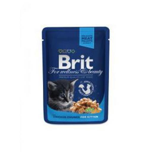 Brit Premium Kitten Trozos De Pollo Salsa Sobre (24 x 100 grms.)