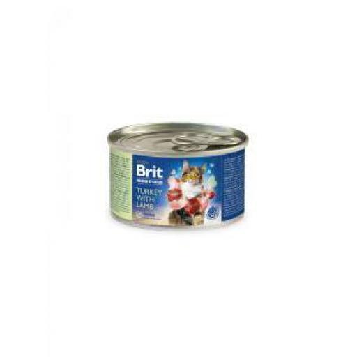 Brit Premium By Nature Gato Adulto Pavo Con Cordero (6x200 grms.)