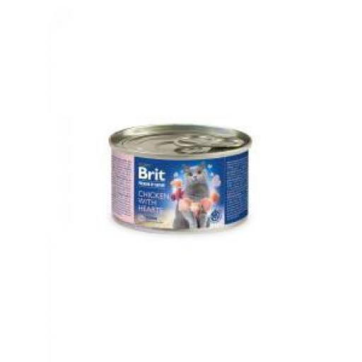 Brit Premium By Nature Gato Adulto Pollo & Corazones (6x200 grms.)