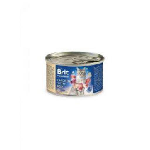Brit Premium By Nature Gato Adulto Pollo Y Ternera (6 x 200 grms.)