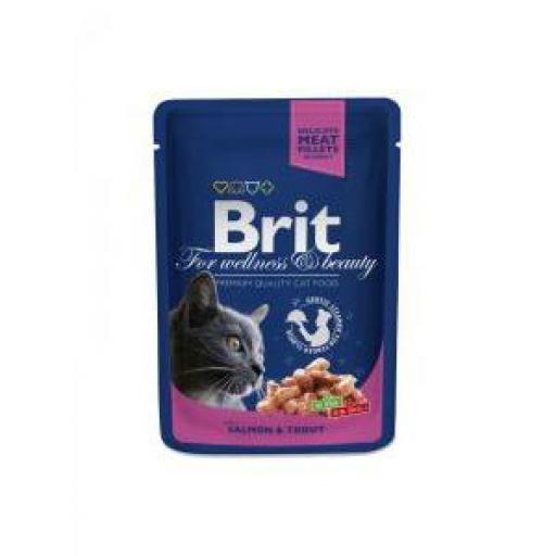 Brit Premium Cat Trucha Y Salmón Salsa Sobre (24 x 100 grms)