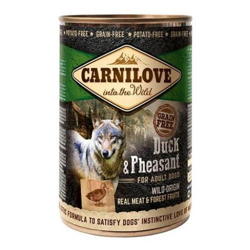 CARNILOVE Canine Húmedo Pato & Faisan (6 X 400 Grms.)