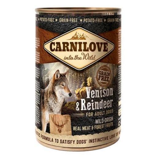 CARNILOVE CANINE Húmedo Venado & Reno (6 X 400 Grms.)