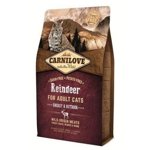 CARNILOVE Feline Energy Reno & Jabalí Grain Free