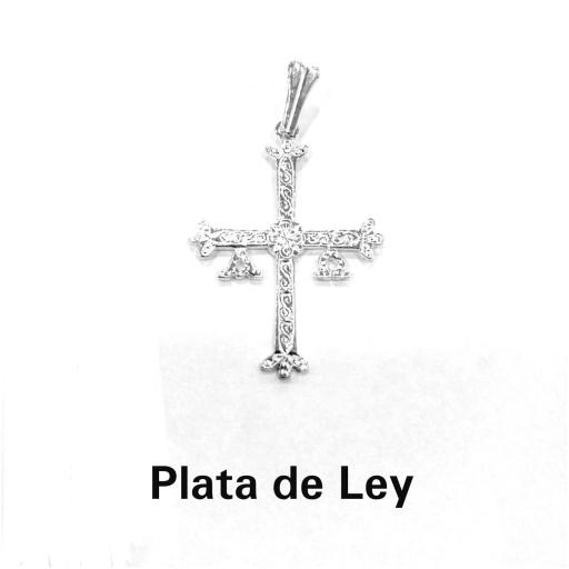 Colgante cruz de Asturias plata grande