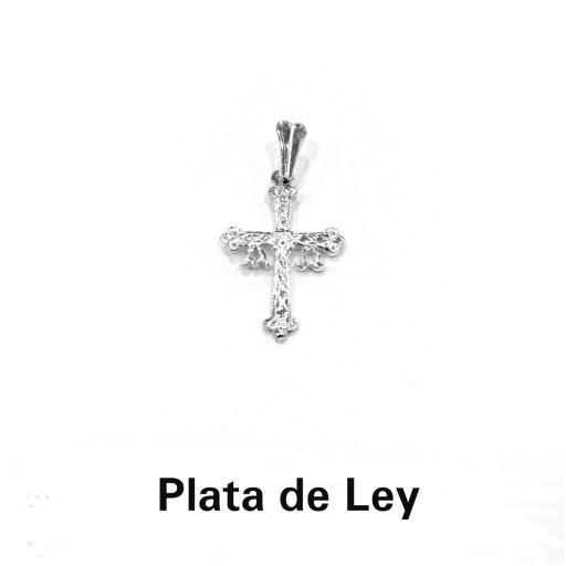 Colgante cruz de Asturias plata mediana