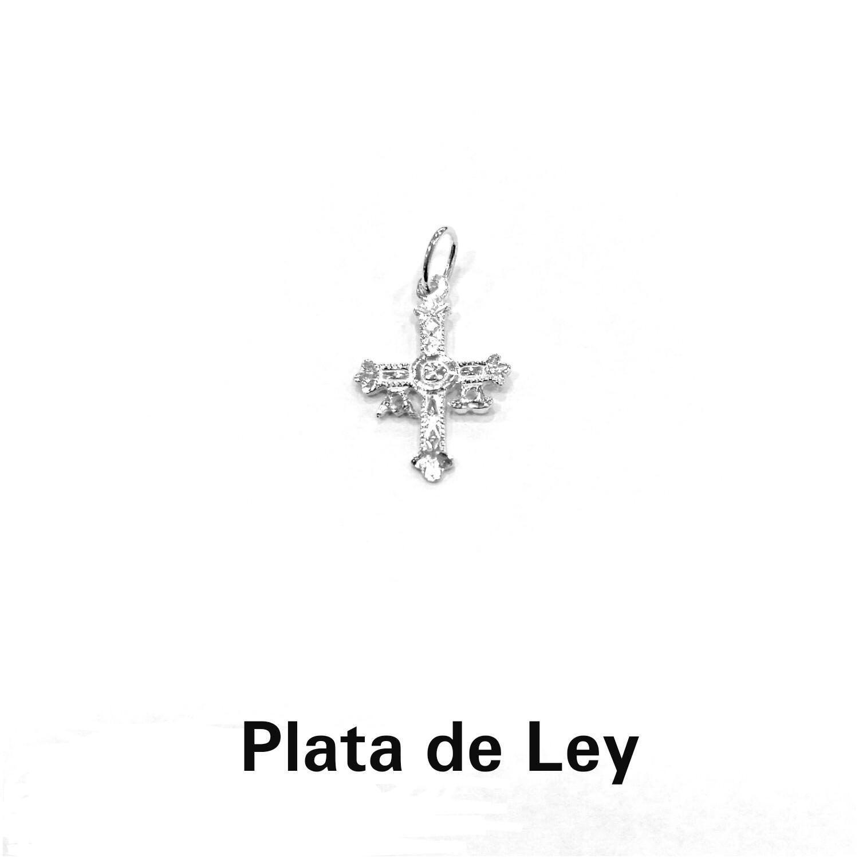 Colgante cruz de Asturias plata pequeña