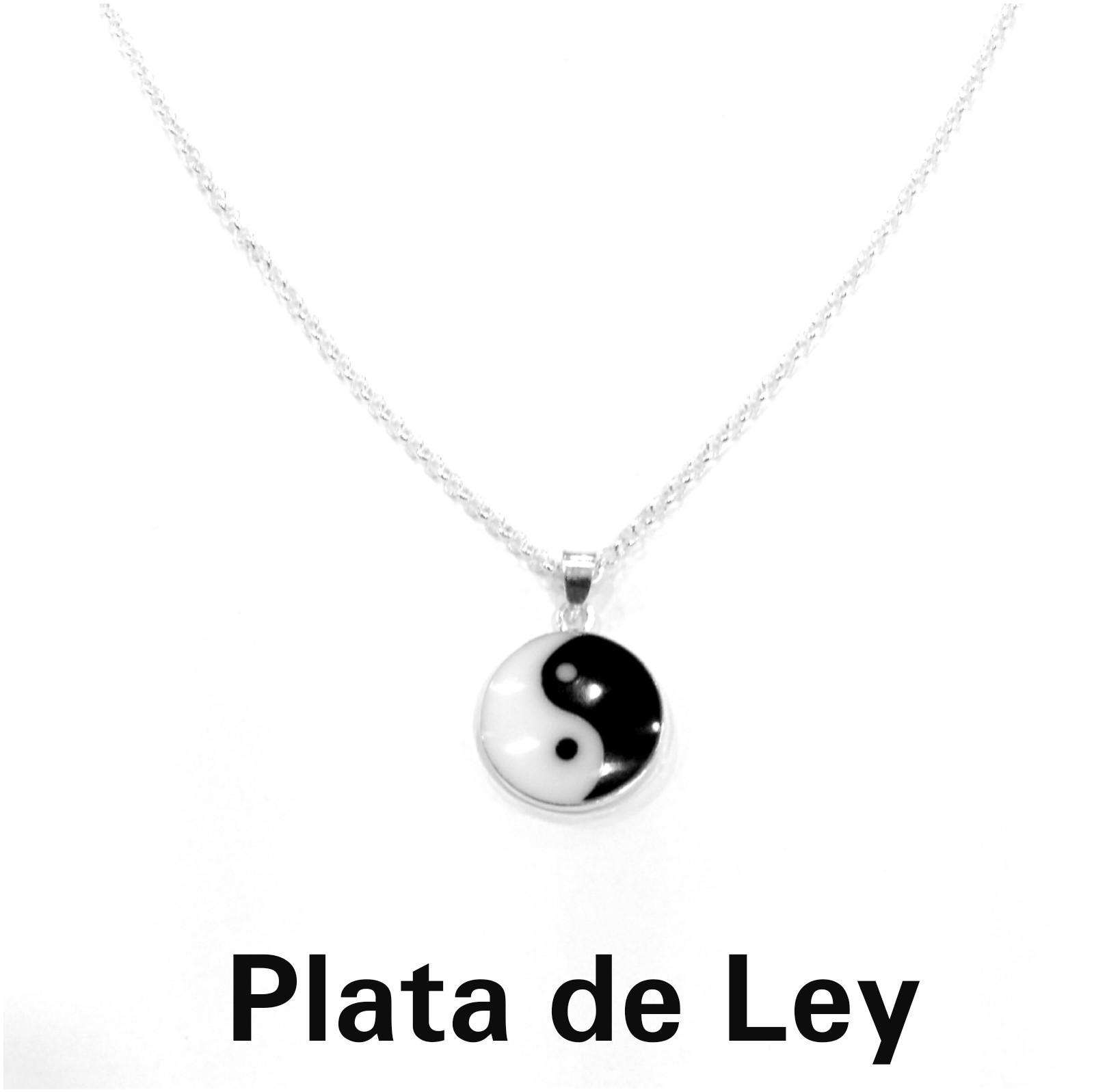 Colgante yin yang plata