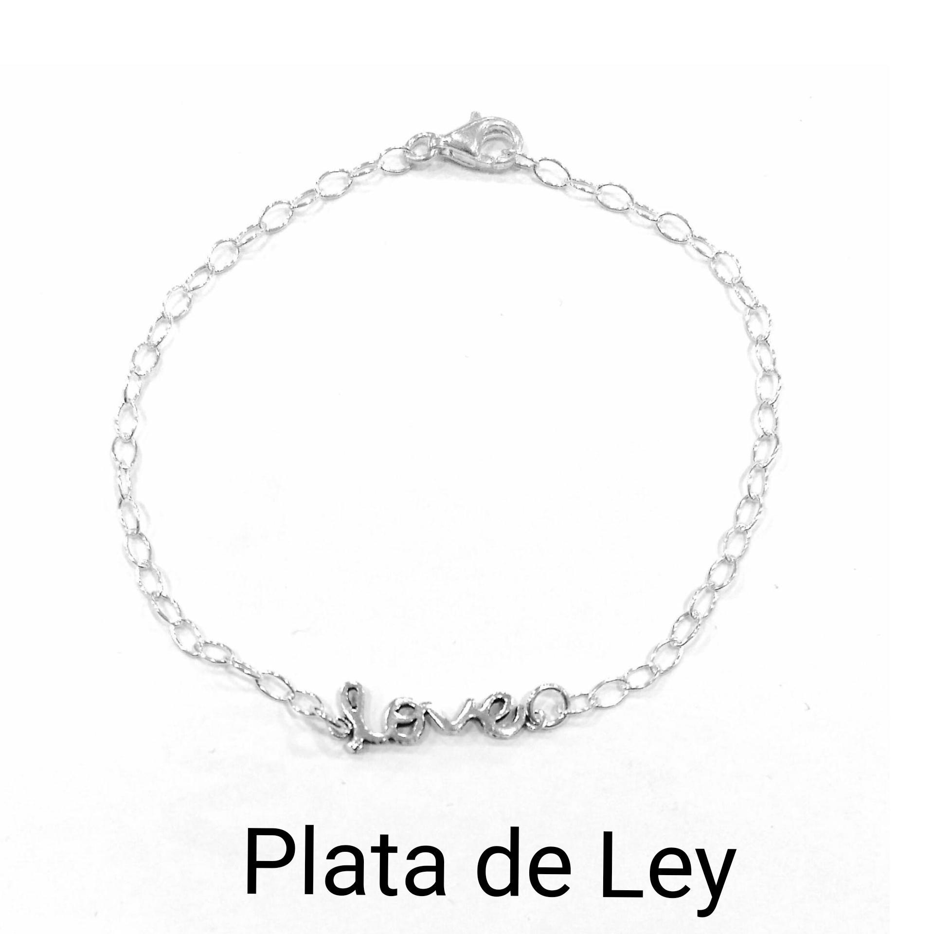 Pulsera love plata