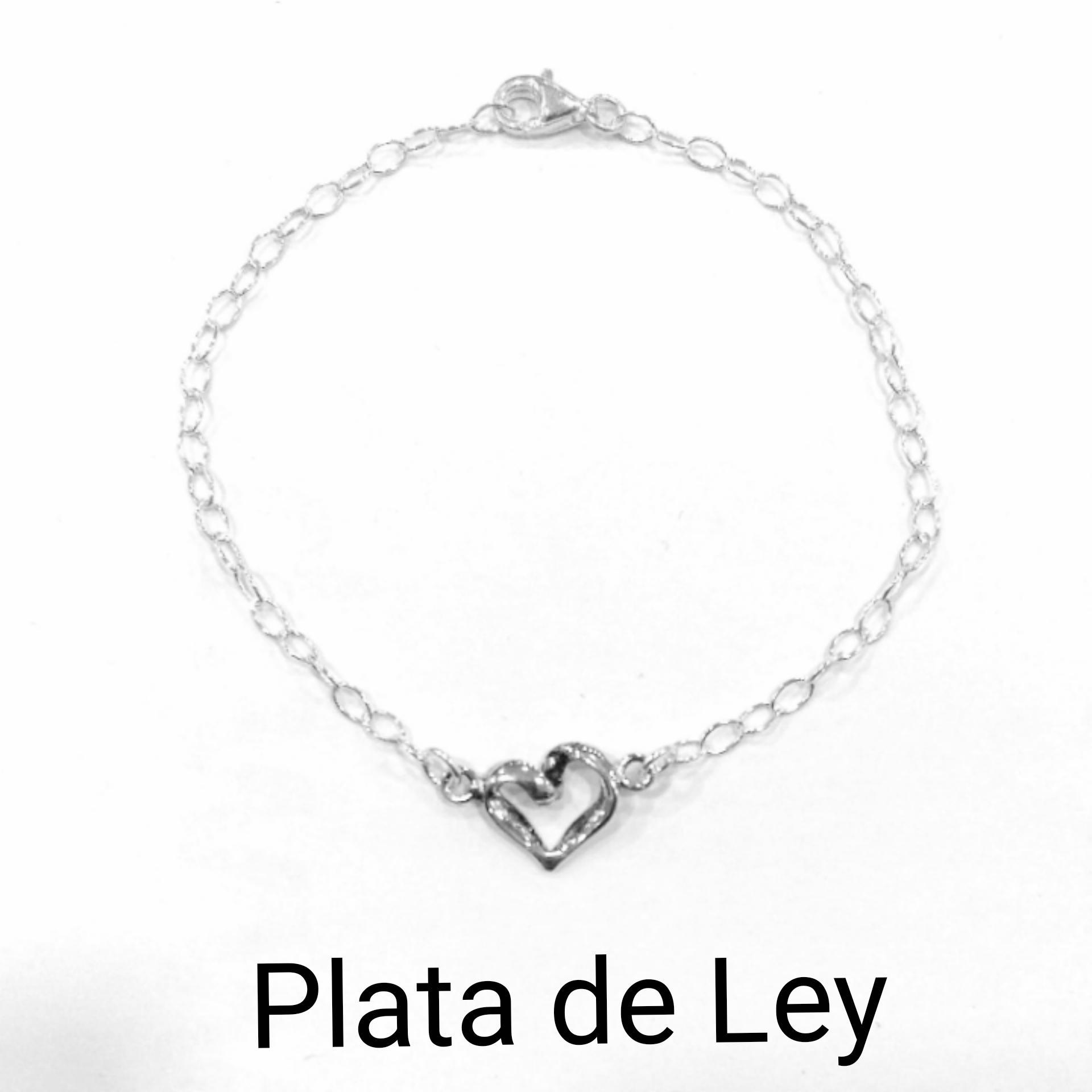 Pulsera corazón calado plata