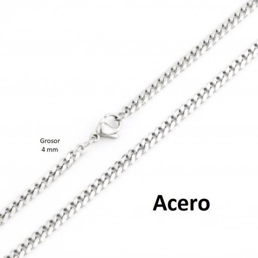 Collar acero barbada 4 mm - 60 cm [1]