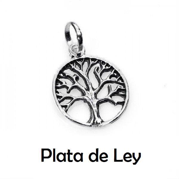 Colgante árbol de la vida pequeño plata