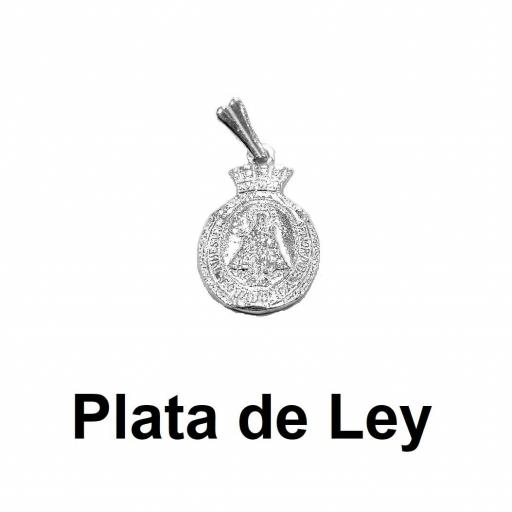 Colgante medalla Virgen de Covadonga plata pequeña