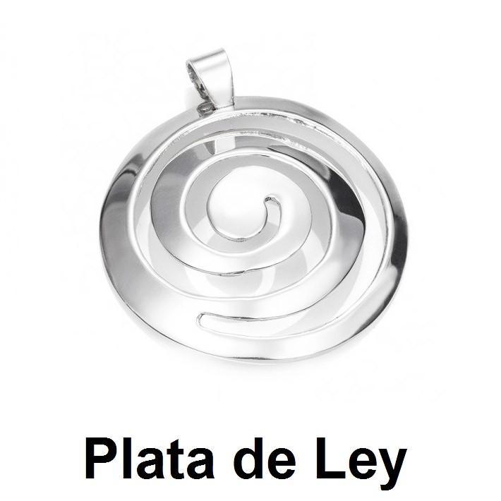 Colgante espiral plata grande