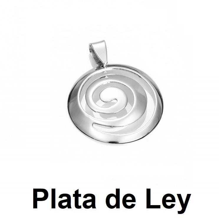 Colgante espiral plata mediano