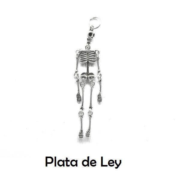 Colgante esqueleto plata