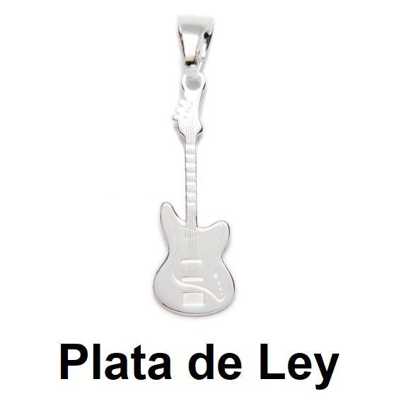 Colgante guitarra eléctrica plata