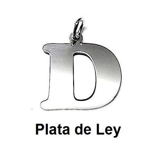 Colgante plata letra D