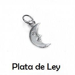 Colgante luna plata pequeña