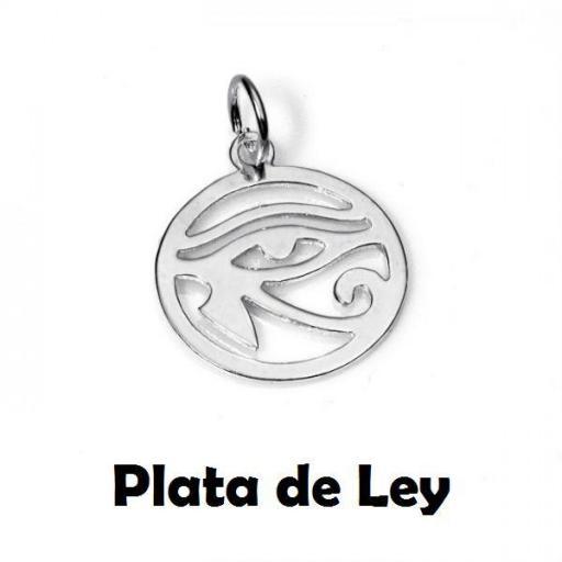Colgante ojo Horus circulo plata