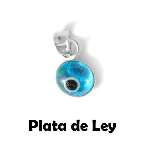 Colgante ojo turco plata