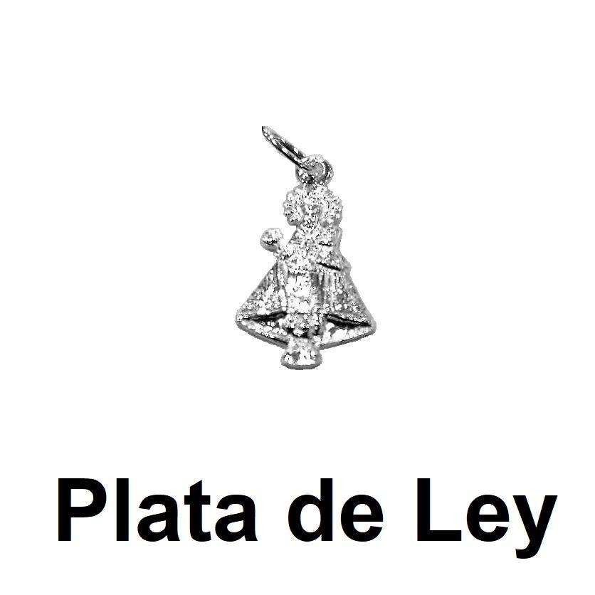 Colgante silueta Virgen de Covadonga plata pequeña