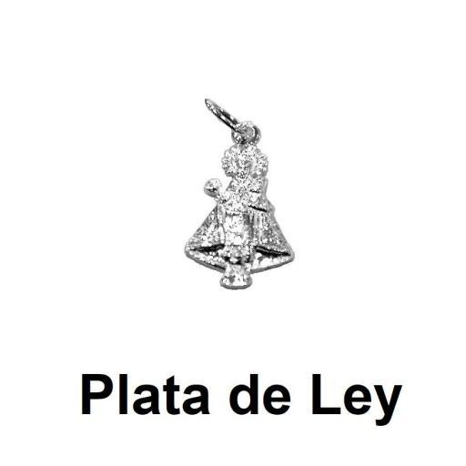 Colgante silueta Virgen de Covadonga plata grande [0]