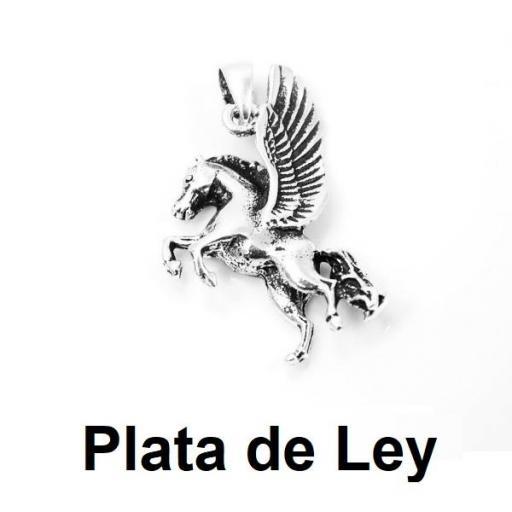 Colgante unicornio plata