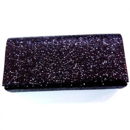 Clutch fiesta negro purpurina [1]