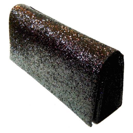 Clutch fiesta negro purpurina