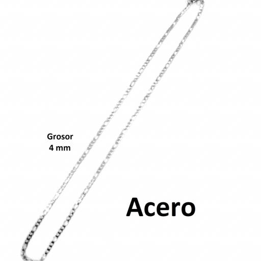 Collar acero 3x1 4 mm - 60 cm